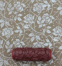 Why wallpaper when you can paint. These patterned paint rollers from The  Painted House,