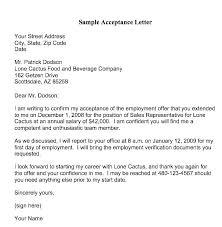Acceptance Letter Template For Job Btcromania Info