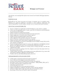 Templates Loan Officer Resume Examples Of Resumes Mortgageocessor