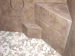 bathrooms sliced pebble tile shower floor problems reviews cleaning edge is centra