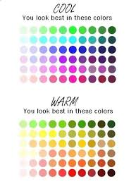 Warm Colour Chart Cool Warm Skin Tone Colour Chart Important For Hair And