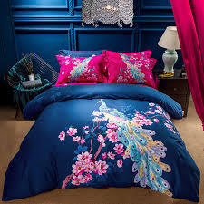king size bed sheet beautiful peacock girls bedding set queen king size bed sheets duvet