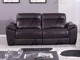 dark brown full italian leather recliner sofa