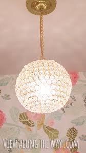 diy crystal ball chandelier only 60 and easy to make