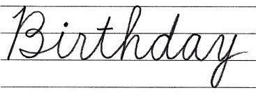 筆記体で書こう Happy Birthday In Cursive