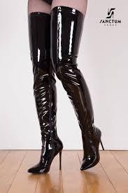 giaro black shiny giaro elegance thigh high boots