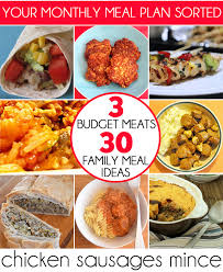 Family Meal Plans 3 Budget Meats 30 Family Meal Ideas Childhood101