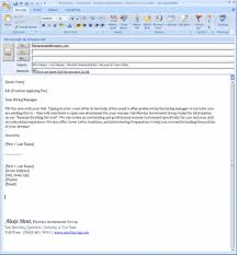 Cover Letter Emailing A Cover Letter Emailing A Cover Letter