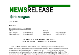 the story of financial prudence 1966 to present huntington microsoft word 070604 fed approval pr final doc
