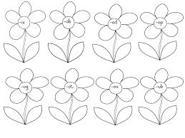 Word Family Flowers Worksheets – Teacha!