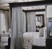 Decoration Rustic Queen Bedroom Design With Hanging White String ...