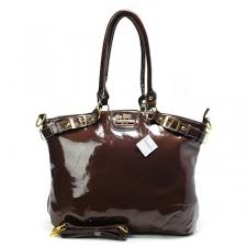 Coach Madison Kelsey Smooth Medium Coffee Satchels ABR