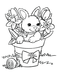 Spring Bunny Coloring Sheet Holidays Spring Creative Teaching Spring
