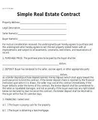 House Contract Form Real Estate Purchase Agreement Form House Template Contract