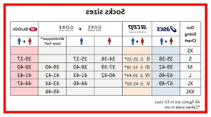 Asics Size Chart Asics Socks Size Chart The Socks Accessories