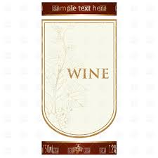 Wine Border Template Template Of Wine Label With Vine And Bunch Of Grapes Vector
