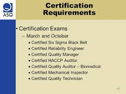 47 certification requirements certified reliability engineer