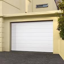 medium rib white sectional door