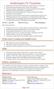 1 Page Cv Template Uk Resume Examples