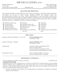 Physician Resume Sample Cool Physician Resume It Resume Objective