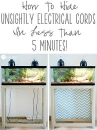 a super quick and easy trick for hiding ugly cords while at the same time adding color and flair to your home decor