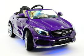 With a run time of 60 minutes this realistic ride on has a. Mercedes Cla45 Amg 12v Kids Ride On Car With Parental Remote Purple