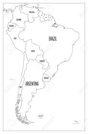 Political Map Of South America Simple Flat Vector Outline Map