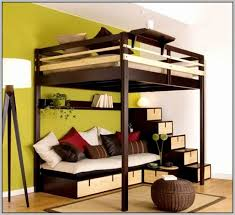 bunk beds with desk and sofa bed brown