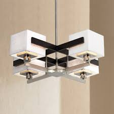 metal and wood chandelier. Possini Euro Design Mirrored Grids Metal And Wood Chandelier - Amazon.com R