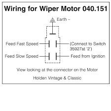 wiring diagrams for classic car parts from holden vintage wiper motor under dash rack 12 volt