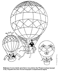 Small Picture Balloon Flights American history coloring pages for kid 079