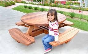 kid s round wood picnic table kit