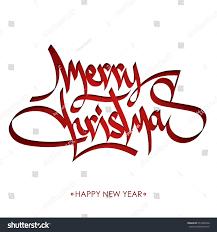 Merry Greeting Holiday Calligraphy Christmas Stock rRCqra