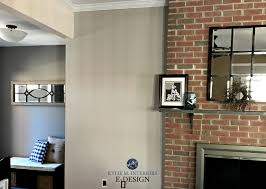 best paint colour sto go with brick fireplace kylie m interiors e design