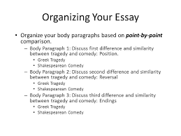 compare and contrast essay ppt video online  organizing your essay organize your body paragraphs based on point by point comparison