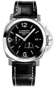 prestigetime panerai watches panerai luminor 1950 3 days gmt power reserve automatic 44mm mens watch pam00321