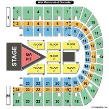 War Memorial Concert Seating Chart War Memorial At Oncenter Syracuse Ny Seating Chart Best