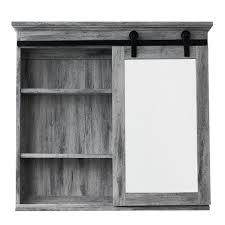 barn door medicine cabinet
