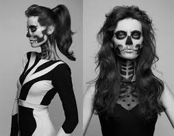 skull makeup tutorial by noemi sparkle