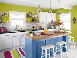 Kitchen With Blue Walls Blue Kitchen Walls Cool Black L Shape Granite Counter Top Kitchen
