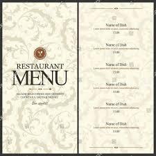 30 Blank Restaurant Menu Template Andaluzseattle Template
