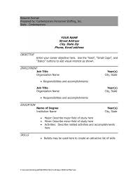 Curriculum Vitae Format Filename Cv Resume Template Microsoft Word