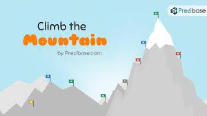 prezi templates prezibase climb the mountain