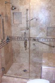 bathroom shower with seat. Brilliant With Shower With Seat  Beautiful Travertine Walk In Detail  Photos And Bathroom Shower With Seat M