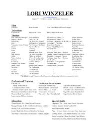 Audition Resume Format It Resume Cover Letter Sample