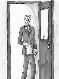stephen walks through the office door lenehan