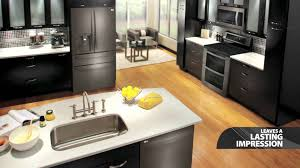 watch awesome pictures of kitchens with black stainless steel
