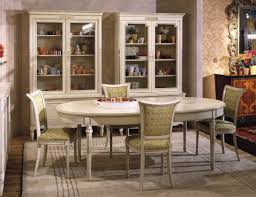 Oval Table Dining Room Sets Oval Tables For Dining Room White Italian French Painted Cream