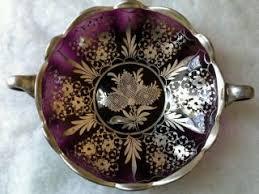 Large Silver Decorative Bowl Decorative Arts Glass Bowls Antiques Browser 97