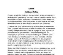 french essay holidays  french essay holidays